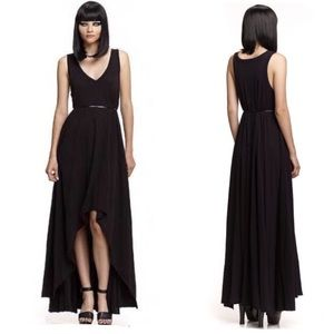 Mark & Estel Black Queen Kristen Jersey Dress